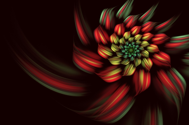 abstract fractal background, spiral, flower