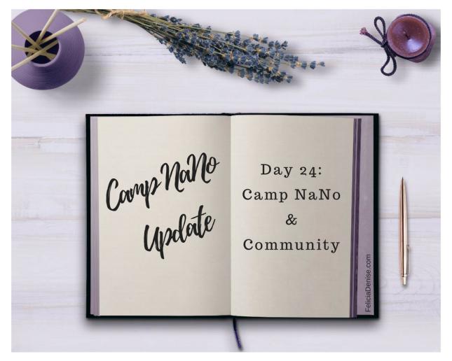 Camp NaNo Update #24 banner