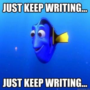 Dory_writing meme